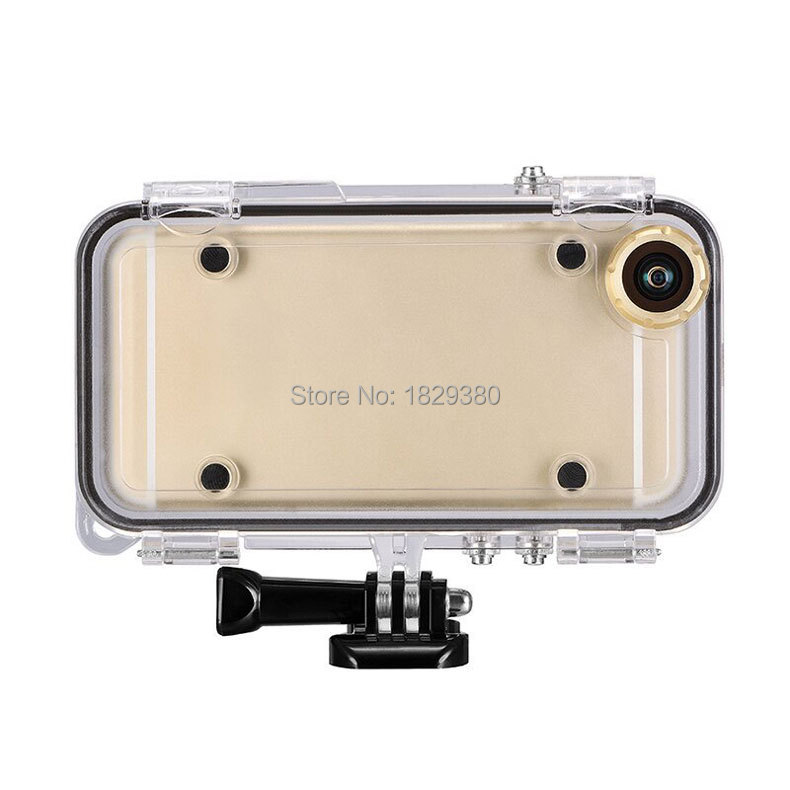 Extreme Sports Waterproof Case for <font><b>iPhone</b></font> 5 5s 6 6s plus with Wide Angle Lens for GoPro Accessories Adapter Diving/Biking/Swim
