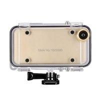 Sporty ekstremalne Wodoodporna Obudowa dla iPhone 5 5S 6 6 s plus z Obiektywem Szerokokątnym dla GoPro Akcesoria Adapter nurkowanie/Rowerowe/Pływać