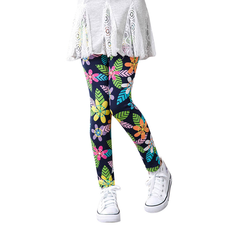 cc24991e 3-14Y Classic Kids Girls Leggings Pants Flowers Star Printed Stretch Pants  Kid Legging Children Toddler Girls Leggings