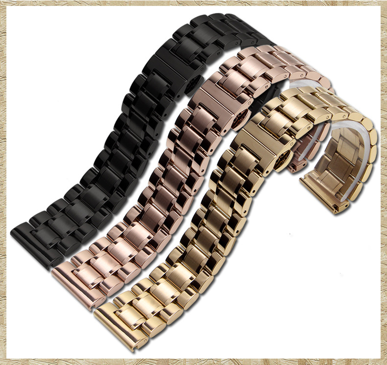 OTEX Silver Durable Stainless Steel Watch Band Bracelets Curved end for Tissot PRC200 T17 T461 T014 T067