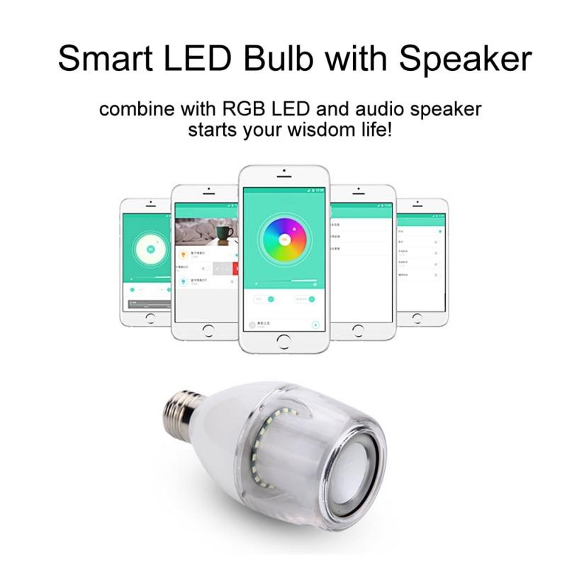 Smart 5W E27 S30 Bluetooth  4.0 Music Bulb E27 Audio Speaker LED RGB Color BulbLamp with APP Control s15 smart led bulb bluetooth 4 0 speaker app control support
