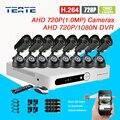 Sistema de CCTV 16CH gravador DVR AHD-M 720 P 1080N 16 pc AHD 720 P CMOS Cor IR câmeras à prova d' água interior H.264 T-G16D7PW04K03