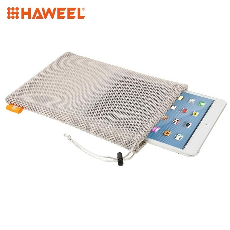 HAWEEL Drawstring Nylon Bag+Stay Cord For 7.9 inch Screen Tablet Mesh Pouch Bag Size: 24cm x 16cm