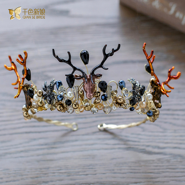 Baroque Crown unique women Tiara crystal Queen Hair ornaments charming jewelry hairband Bridal Wedding Accessories Gifts lh0018