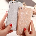 Simple Style Glitter TPU Phone Case Cover Diamond Rhinestone for iphone 6/6 Plus Case Soft Gel Crystal Fashion fundas