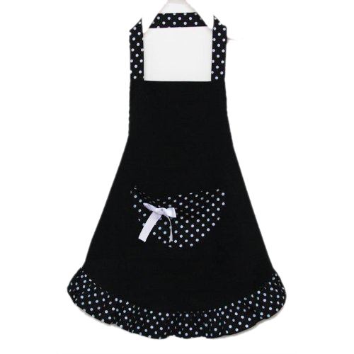 Phfu Lovely Cotton Polka Dot Pattern Working Chefs Kitchen Cooking Cook Women S Bib Apron With Bowknots