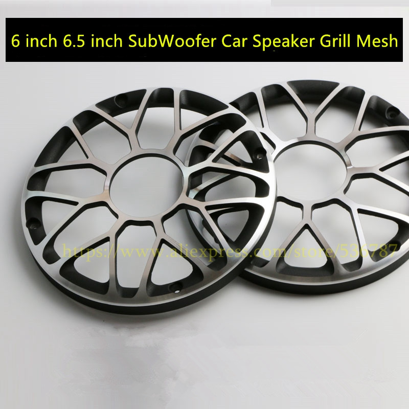 1 Pairs/2pcs 6 Inch 6.5 Inch Subwoofer Car Speaker Grill Mesh Enclosure Aluminum Woofer Net Speaker Metal Protective Cover Diy A Great Variety Of Models
