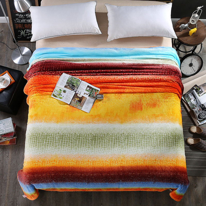 Soft thickening coral fleece bed blanket all season throw for Beds 120 x 200