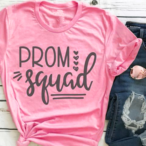 e46465603 Summer New Hot Tumblr Letter Tee Prom Squad Funny T-Shirt 90s Grunge  Vintage Squad