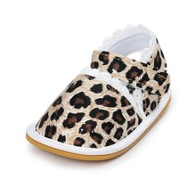 Leopard Free Shipping Street Fashion Printing Baby Shoes Summer Toddler Girls Shoes Cotton Newborn Infant Shoes First Walker A32