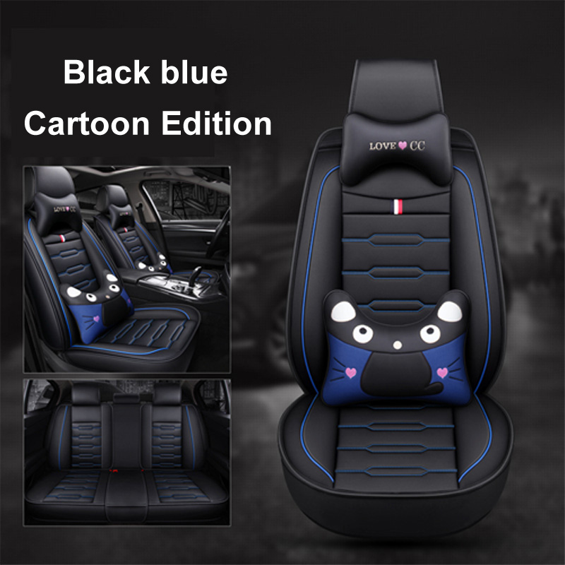 Outstanding Us 89 0 31 Off 2019 New Cartoon Luxury Leather Car Seat Covers For Volkswagen Vw Passat Polo Golf Tiguan Jetta Touareg Auto Accessorie Styling In Pabps2019 Chair Design Images Pabps2019Com