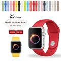 1:1 original banda de silicona para apple watch sport correa para apple watch pulsera de la muñeca 42mm 38mm