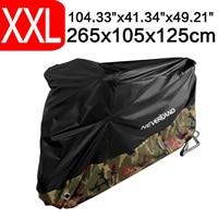 XXL 265x105x125cm 190T Waterproof Camouflage Rain Dust UV Outdoor Indoor Motorcycle Cover Coat For BMW