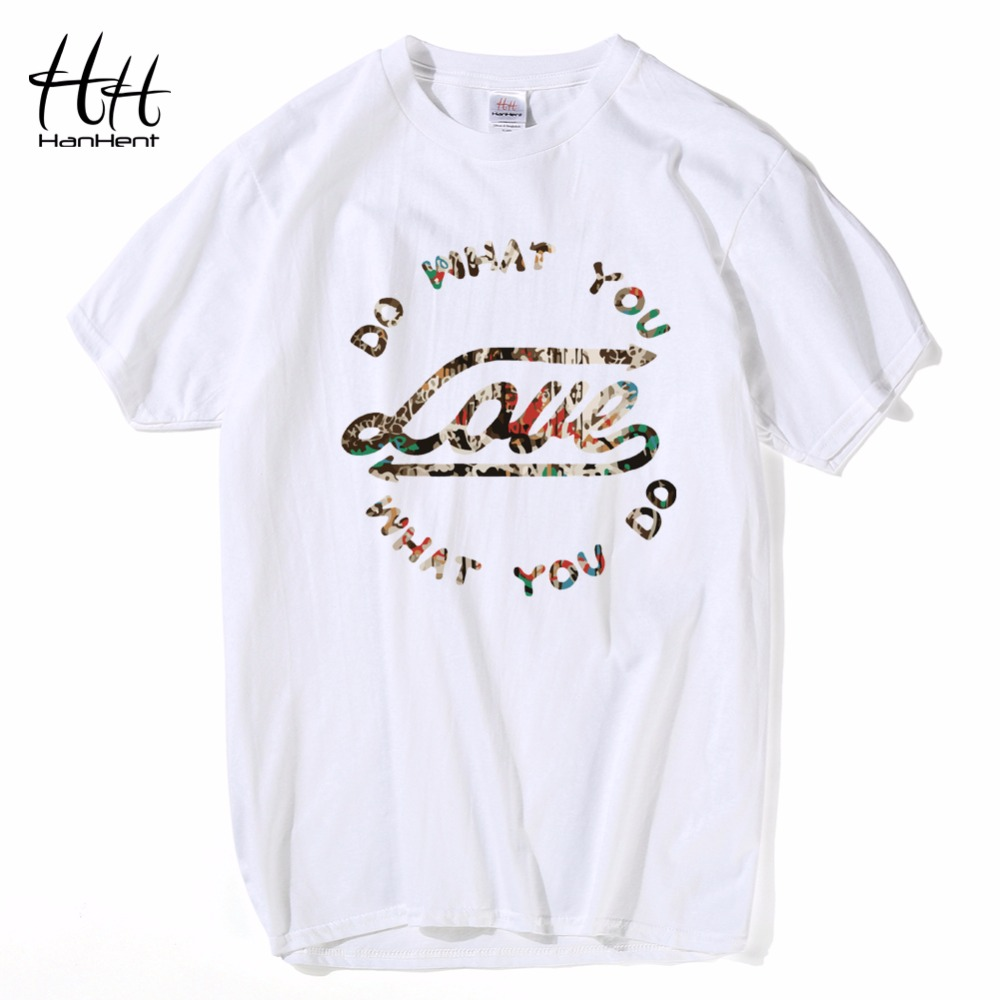 HanHent Do What You Love T-shirt Férfi rövid ujjú pólók Nyári - Férfi ruházat