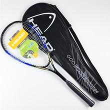 Качественная композитная ракетка для сквоша с бесплатной сумкой, углеродная ракетка для сквоша, оранжевая, синяя ракетка для сквоша, тренировочная ракетка для сквоша