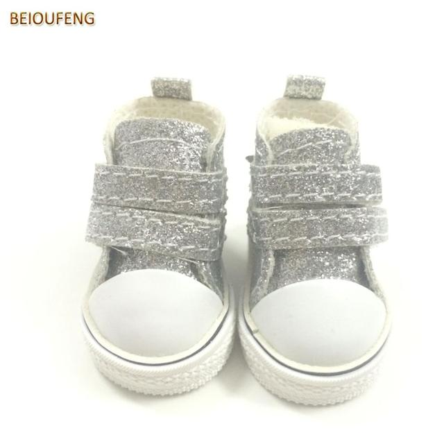 BEIOUFENG 5CM Blinking Toy Boot Footwear for Dolls,1/6 BJD Doll Shoes Sneakers for Dolls,Mini Gym Shoes BJD Doll Boots 6 Pair