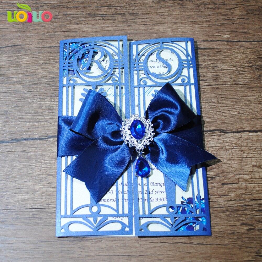Einzigartige Luxuriose Hochzeitskarten Laser Geschnitten Menu