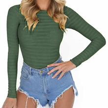 Autumn Bodycon Bodysuits Feminino Mujer Sexy Stretchy Rompers Long Sleeve O Neck Women Body Winter Jumpsuit Top One Piece GV125