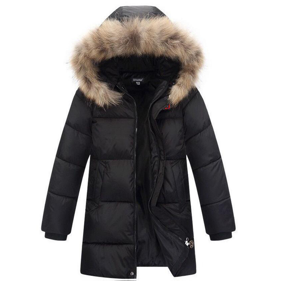 baby boys down jacket kids faux fur coats baby boy snowsuit children's winter jackets cold -30 degree jacket warm down for boys new 2017 russia winter boys clothing warm jacket for kids thick coats high quality overalls for boy down