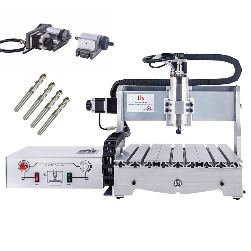 Ball Screw CNC3040 Engraving Milling Machine Mach3 800W  Water Cooling Spindle