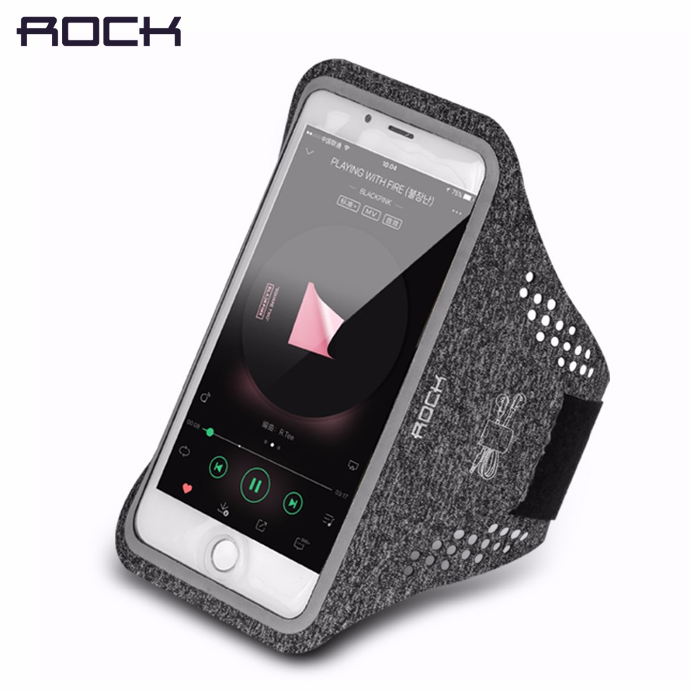 Universal Professional Slim Sports Armlet arm band for running fitness cycling, ROCK Phone Armband for 4-6 inch Phone devices