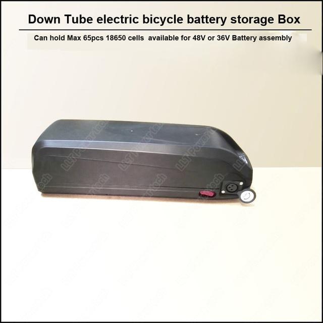 Down Tube E-bike battery box with USB interface and HaiLong Battery plastic case for 36V 48V large capacity 18650 holder