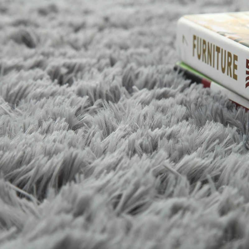 Camera da letto Pavimento moquette Scuola Materna Del Bambino Tappetini Bambini coperta 2019 di Seta Super Soft Lana Tappetini Coperta Moderna Solido Shag Zona Tappetini tappeto di seta