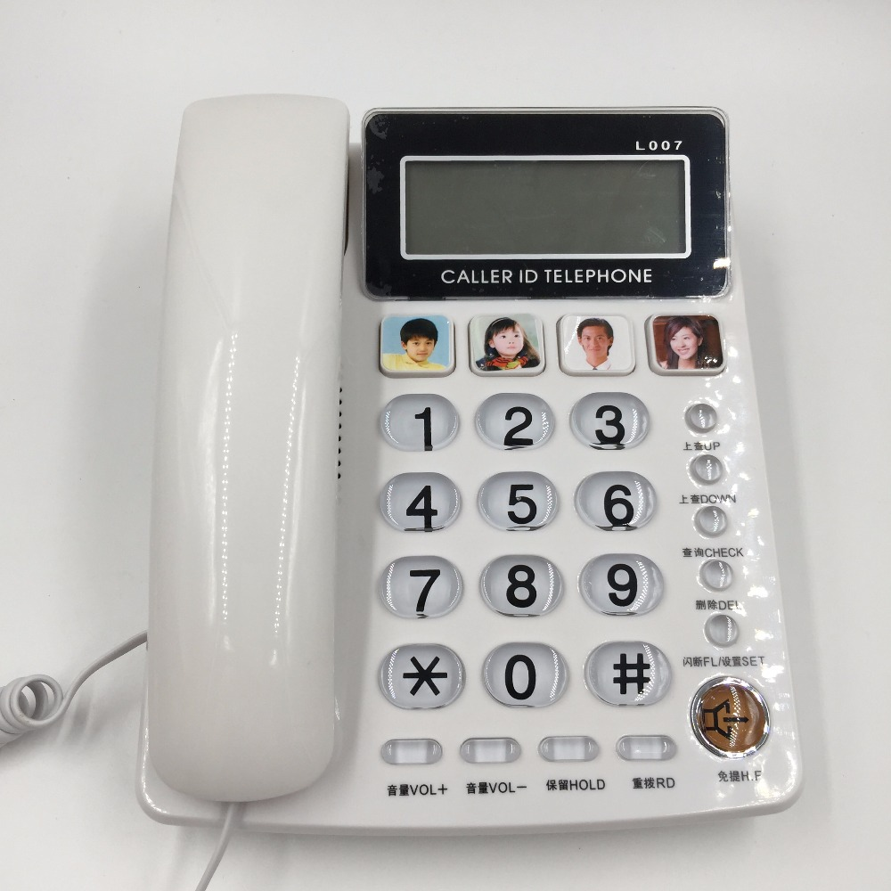 fsk dtmf caller id handfree corder telephone fixe landline phone without battery for home office. Black Bedroom Furniture Sets. Home Design Ideas