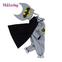 Baby Masquerade Costume Batman Baby Cosplay Clothes 2018 Winter New Warm Bodysuit Kids Children Clothing Novelty