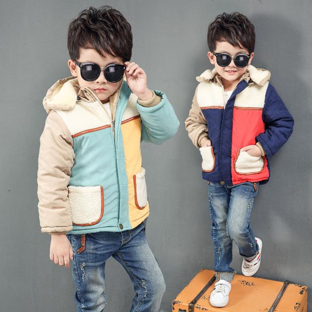 Confortável Engrossar Meninos Jaqueta de Inverno, Casacos de Bebê Crianças Outerwear Casaco, de Alta Qualidade Roupas de Criança Com Capuz Casuais Crianças Roupas