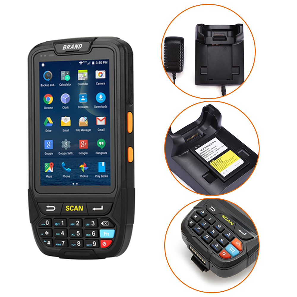 IPDA018 Portable Android 1D/2D Barcode Scanner Handheld Android PDA Wireless Data Collector Terminal Wifi/Bluetooth/NFC Reader caribe pl 40l industrial pda mini portable nfc memory attendance rfid android integrated with gps 1d barcode scanner