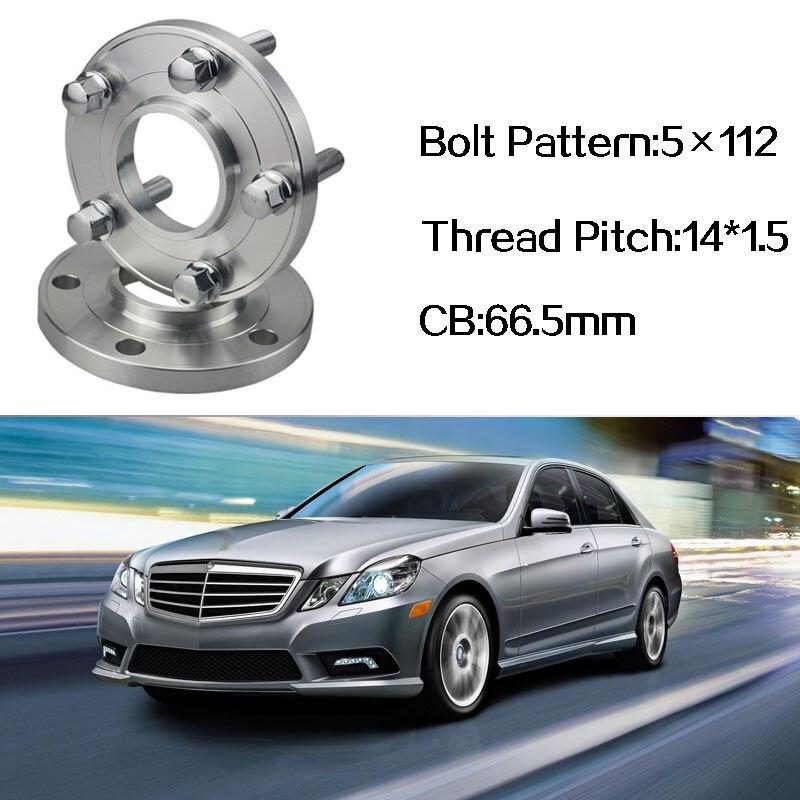 2 pièces 5x112 66.5CB Centric Entretoise De Roue Moyeux M14 * 1.5 Boulons Pour Benz Classe E W212 C207 Benz Classe S W140 W220