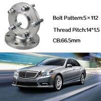2pcs 5x112 66.5CB Centric Wheel Spacer Hubs M14*1.5 Bolts For Benz E Class W212 C207 Benz S Class W140 W220