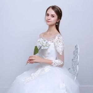 Image 5 - Luxury Sexy Real Photo Princess Elegant Wedding Dresses 2020 New Three Quarter Sleeve Lace Flower Bridal Gowns Vestidos De Noiva