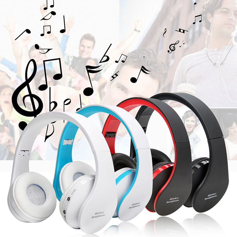Folding HiFi Deep Bass Earphone Wired / Wireless Stereo Bluetooth Headphone Over-Ear Noise Cancelling Headset With Mic Fashion original fashion bluedio t2 turbo wireless bluetooth 4 1 stereo headphone noise canceling headset with mic high bass quality