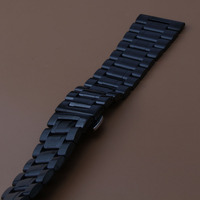 Stainless steel watchbands Wristwatch Bracelet Black FOR MEN HOURS NEW polished Watches Accessories straps 24MM 26mm 28mm 30mm