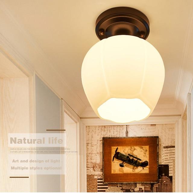 modern ceiling light e27 7w 9w led lamp glass lamp shade simple