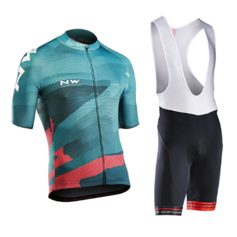 2018 NW Cycling Jersey Set Summer Short Sleeve Cycling Clothing 12D Gel Pad Ropa Ciclismo Cycle Maillot Clothing 12d pad cycling jersey set bike clothing summer breathable bicycle jerseys clothes maillot ropa ciclismo cycling set
