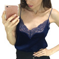 Sexy Autumn Velvet V Neck Two wear Hollow Lace Pattern Camisole Sleeveless Tank Tops Winter Sexy Women Party Club Cropped Tops