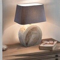 FUMAT Table Lamp Modern Nordic Lamp Wooden Office Desk Light Book night light E27 bedside lamp La lamparas Bedroom Table Light
