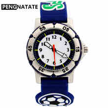 PENGNATATE Children Boys Watch Fashion Cute 3D Soccer Strap