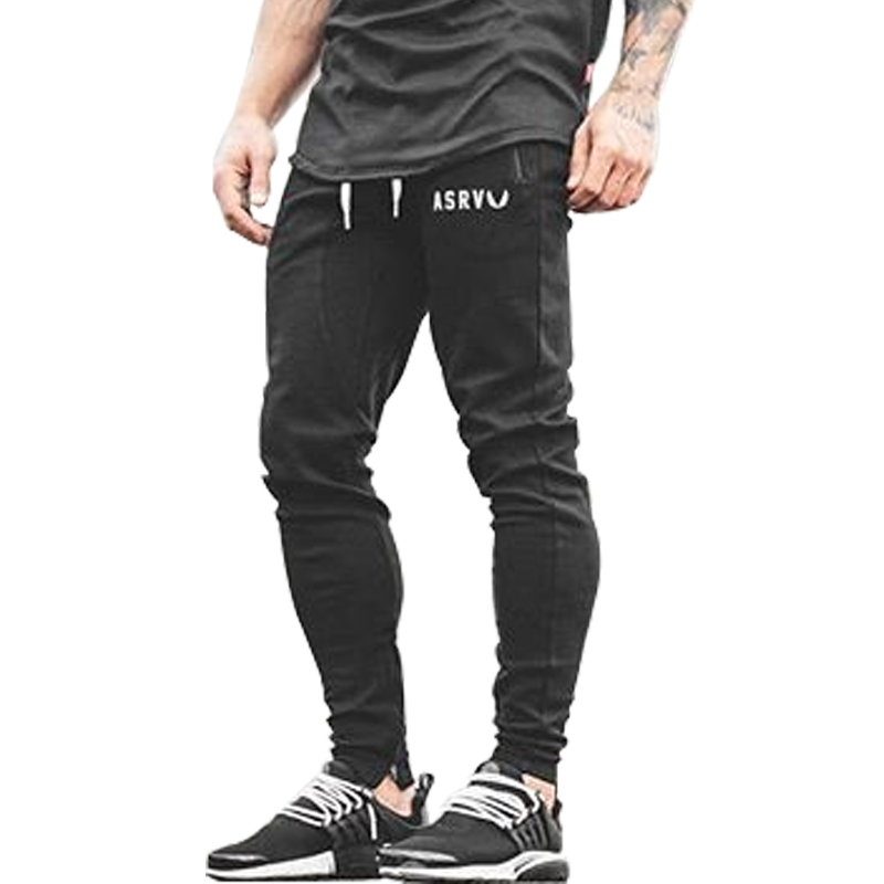 2018 New Bodyboulding Mens Pants Gyms Zipper packet Pants Brand Clothing Cotton Embroidery Trousers Casual Elastic Fit Joggers