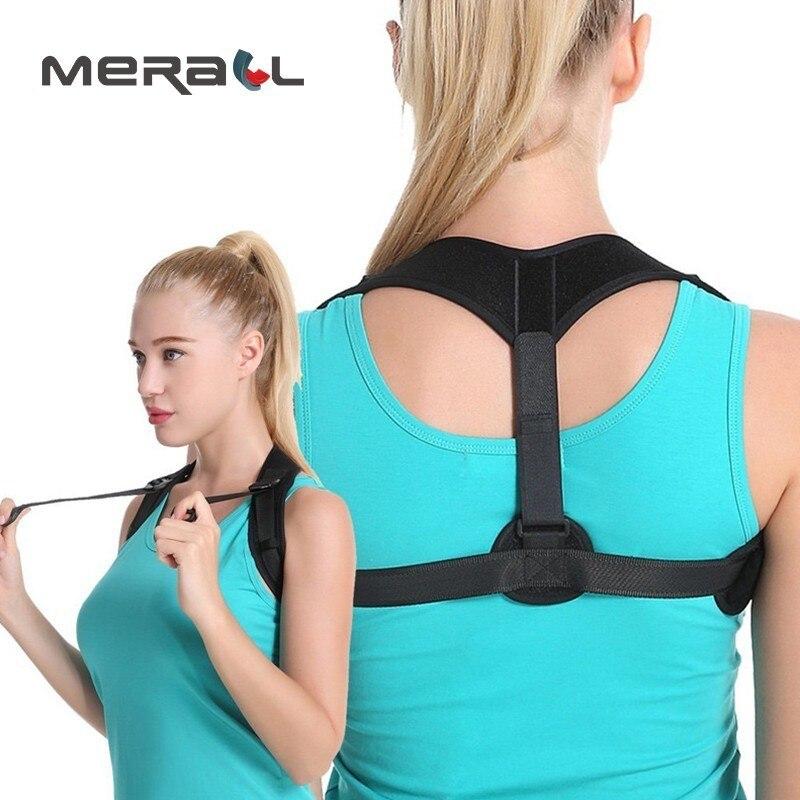 Épaule Back Support Posture Correcteur Bosse Correction Ceinture Corset Respirant Adulte Enfants Accolades Clavicule Réglable