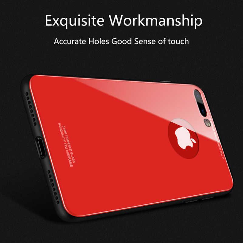 強化用ガラス裏表紙 iphone × 8 7 6 6 S プラスケース超薄型クリアミラーフルガラス保護電話ケースシェル