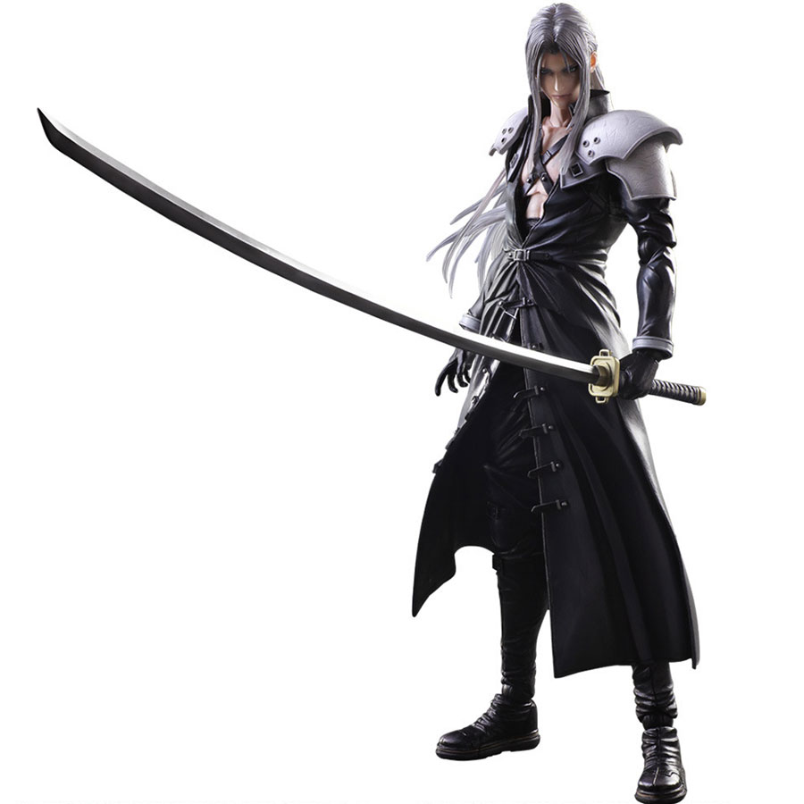 Play Arts <font><b>Final</b></font> <font><b>Fantasy</b></font> <font><b>7</b></font> 28cm Sephiroth PVC Action Figure Joint movable Model Collection Toys image