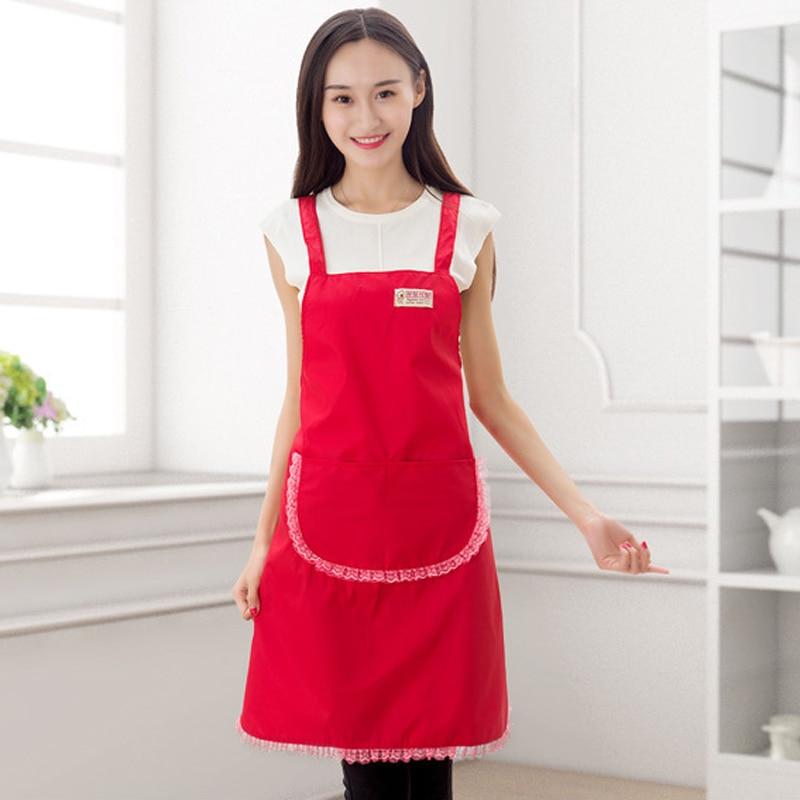 Princess Kitchen Esiliina Maid Lace Esiliinat Pocket Naiset Avental - Kotitaloustavarat