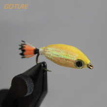 Goture Fly Fishing Lure Fish Bait Sinking Wet Flies for Carp Bass Salmon Fishing with Mustard Hook 6# 4pcs/Lot