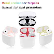 Earphone Accessories For Apple Airpods Case Protective Cover sticker Dust Guard For Airpods2 Earbud Cover Cute For TWS i12 i7s(China)