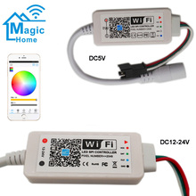 цена на Addressable Magic Home LED SPI Controller DC5V DC12 24V 2048 Pixel Mini WiFi Controller For WS2811 SK6812 WS2812B LED Strip