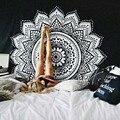 Классический черный и белый ткань гобелен, multi-function гобелен, скатерть, стены ткань украшение дома ткань бесплатная доставка